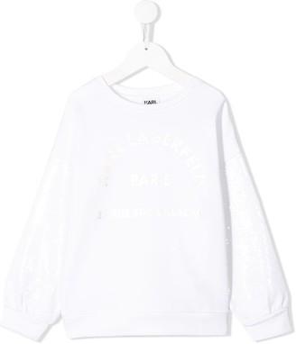 Karl Lagerfeld Paris Long Print Sweatshirt