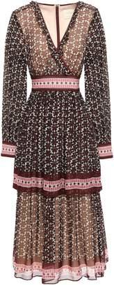 Kate Spade Wrap-effect Printed Silk-georgette Midi Dress