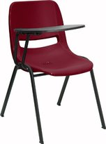 Offex OF-RUT-EO1-BY-RTAB-GG Ergonomic Shell Chair with Right Handed Flip-Up Tablet Arm