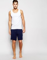 Hugo Boss Regular Fit Lounge Shorts With Contrast Waistband - Blue
