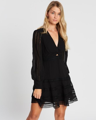 Atmos & Here Amy Lace Insert Mini Dress