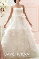 David Tutera for Mon Cheri Ruffle Wedding Gown