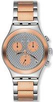 Swatch Women's YCS581G Irony Analog Display Swiss Quartz Two Tone Watch