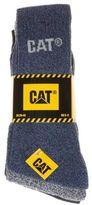 Caterpillar New Mens Multi 3 Pack Work Cotton/Polyester Socks Boot