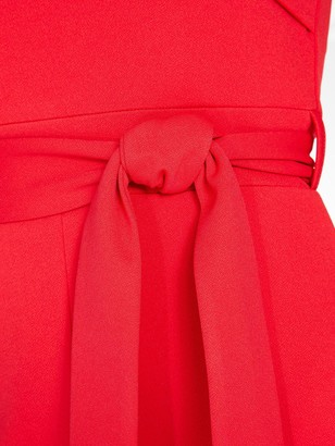Quiz Wrap Top Tie Waist Palazzo Jumpsuit - Red