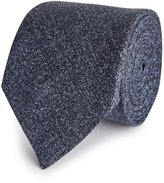 Reiss Creston - Melange Silk Tie in Blue, Mens