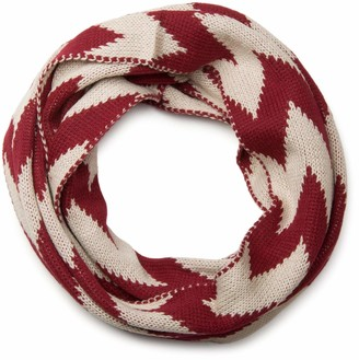 styleBREAKER smooth knit tube scarf snood with contrasting zig-zag pattern unisex 01018129