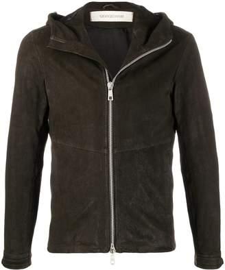 Giorgio Brato hooded leather jacket