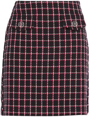 Claudie Pierlot Checked Cotton-blend Tweed Mini Skirt