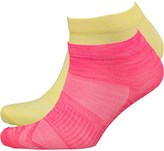 Asics Two Pack Tech Ankle Socks Diva Pink/Blazing Yellow