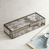 Pier 1 Imports Antiqued World Map Glass Box - Small