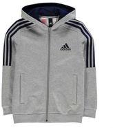 adidas Kids 3S Logo Junior Boys Hoody Full Zip Hoodie Long Sleeve Hooded Casual