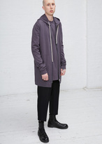 Rick Owens plum drawstring hoodie