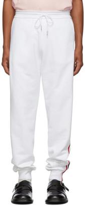 Thom Browne White Classic RWB Stripe Lounge Pants