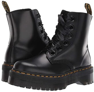 Dr. Martens Molly Quad Retro (Black Buttero) Women's Boots