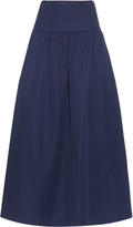 Sonia Rykiel Gathered linen and cotton-blend skirt