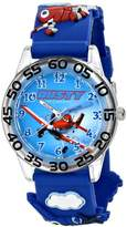 "Disney Kids' W001526 ""Time Teacher Planes Fire & Rescue Watch With 3-D Band"