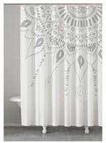 "Kassatex Sunshine Medallion Shower Curtain Grey (72""x72"")"