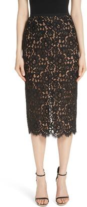 Michael Kors Lace Pencil Skirt