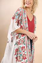 Umgee USA Multicolored Embroidery Kimono