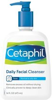 Cetaphil Daily Facial Cleanser, 16 oz, 2 pk