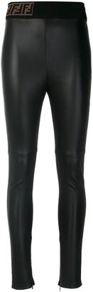 Fendi FF motif skinny-fit biker leggings