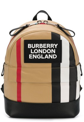 Burberry stripe detail backpack