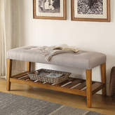 ACME Furniture Charla Wood Storage Bench Upholstery