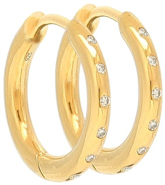 Theodora Warre Diamond Flush gold-plated hoop earrings