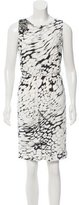 Blumarine Jewel-Embellished Printed Dress