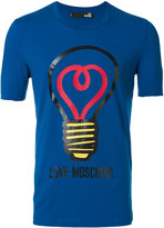 Love Moschino lightbulb print T-shirt - men - Cotton/Spandex/Elastane - XL