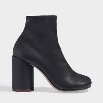 MM6 MAISON MARGIELA High-Heeled Ankle Boots In Black Calfskin