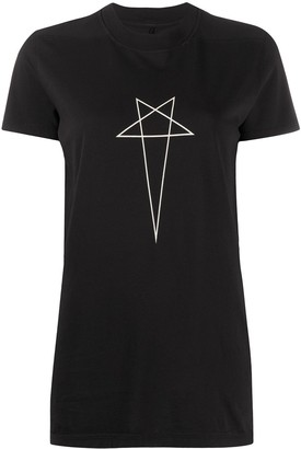Rick Owens star print crew neck T-shirt