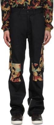 424 Black Camo Cargo Pants