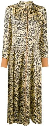 Forte Forte Floral-Print Shirt Dress