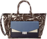 Tory Burch T-Lock Printed Patent East/West Tote