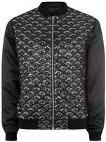 Topman JAMES BAY X Black Sequin Bomber Jacket