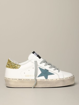 Golden Goose Hi Star Sneakers In Leather With Suede Star