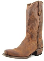 Lucchese Clayton Men Square Toe Leather Western Boot.