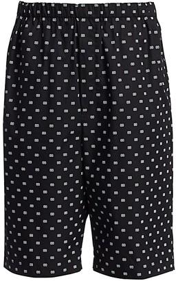 Balenciaga Logo Print Boxer Shorts