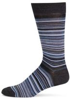 Saks Fifth Avenue Striped Merino Wool Mid-Calf Socks