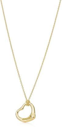 Tiffany & Co. Elsa Peretti Open Heart pendant in 18k gold with yellow diamonds