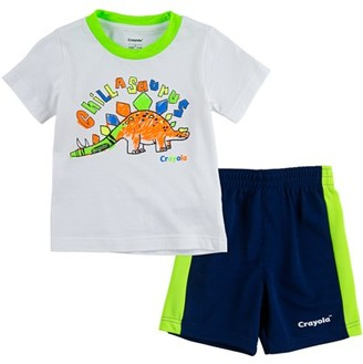 Crayola Boys Graphic T-Shirt & Shorts, 2-Piece Outfit Set, Sizes 4-7