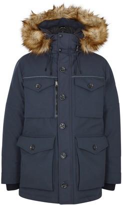 Polo Ralph Lauren RLX Alistair navy faux fur-trimmed shell coat