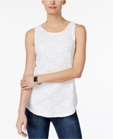 Charter Club Lace Tank Top, Only at Macy's