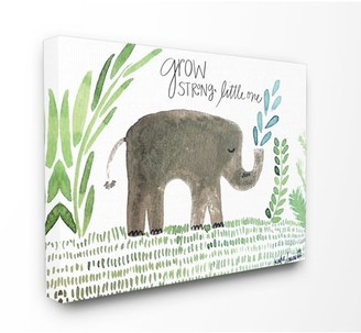 The Kids Room by Stupell Grow Strong Little Elephant Stretched Canvas Wall Art, 16 x 1.5 x 20
