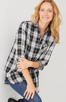 J. Jill Plaid Double-Cloth Tunic