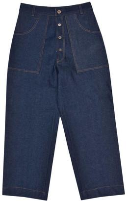 Lanefortyfive Logjam Women's Straight Wide Legged Jeans
