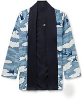 Thumbnail for your product : Blue Blue Japan Reversible Printed Chirimen Crepe Jacket