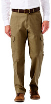 Haggar Big & Tall Stretch Comfort Cargo - Classic Fit, Flat Front, Hidden Expandable Waistband